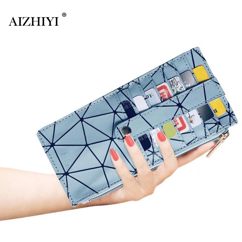 Coin Purse Wallet Geometric Women Handbag Card-Holder Long Clutch Zipper Print Casual