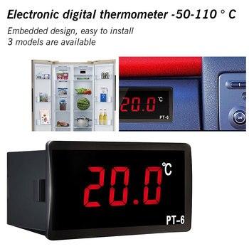 Vehicle Digital Thermometer Car Incubator Thermometer LED Temperature Meter Probe -50~110 C 12V 24V 110V With NTC Sensor