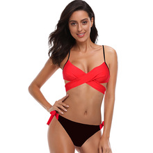 ECTIC 2019 Sexy Women Bikini Set Plus Size Swimsuit Push Up Bathing Suit Bikinis Beachwear Biquini