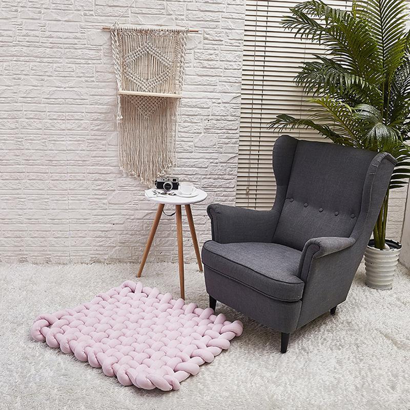 INS Style doux épais fil tricoté bébé tapis de jeu couverture tissage à la main accessoires Photo nordique enfants chambre lit canapé couverture décorative - 6