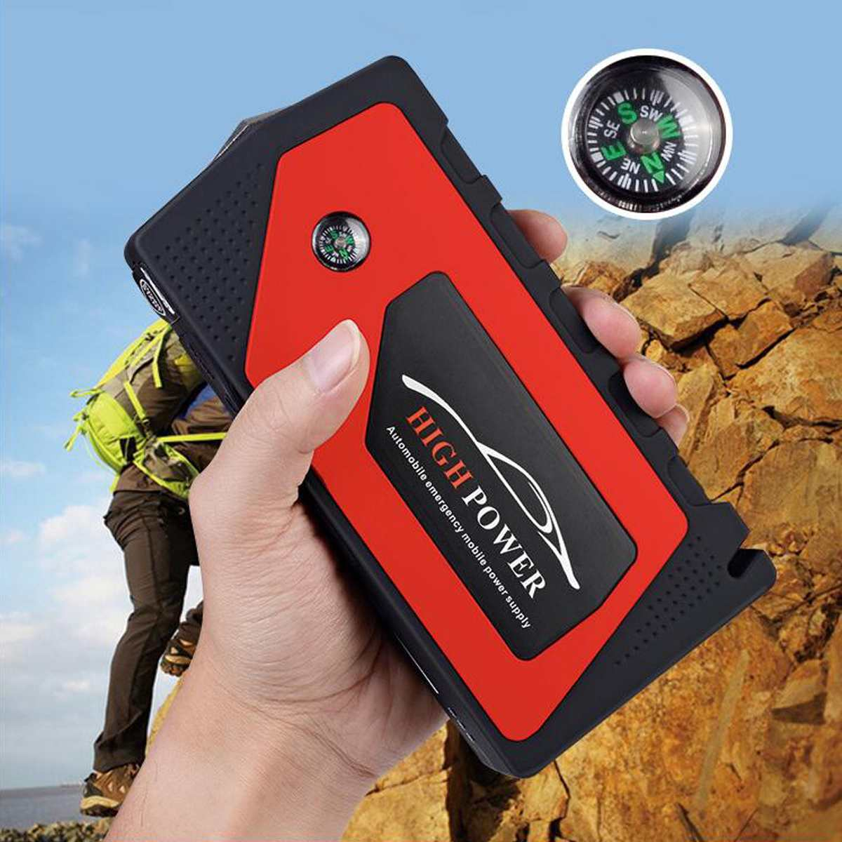 Démarreur de saut de voiture Portable 4 Ports USB démarreur de saut de voiture chargeur portatif batterie chargeur dispositif de démarrage pour les Diesels à essence de téléphone - 3
