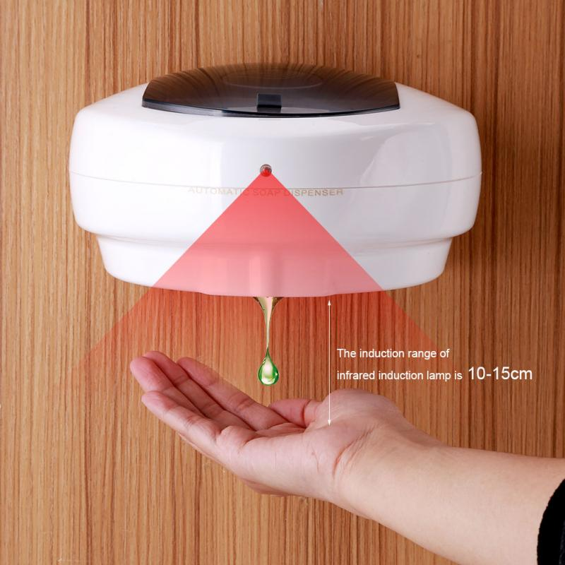 500ml Automatic Touchless Sanitizer Soap Dispenser Sensor Hands Free Bathroom Wall Mounted Manual Liquid Soap Dispenser