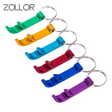 ZOLLOR 2Pcs Random Color Beer Bottle Opener Keychain 4 In 1 Pocket Aluminum Can Jar Openers 6 Colors Wedding Favor Gifts