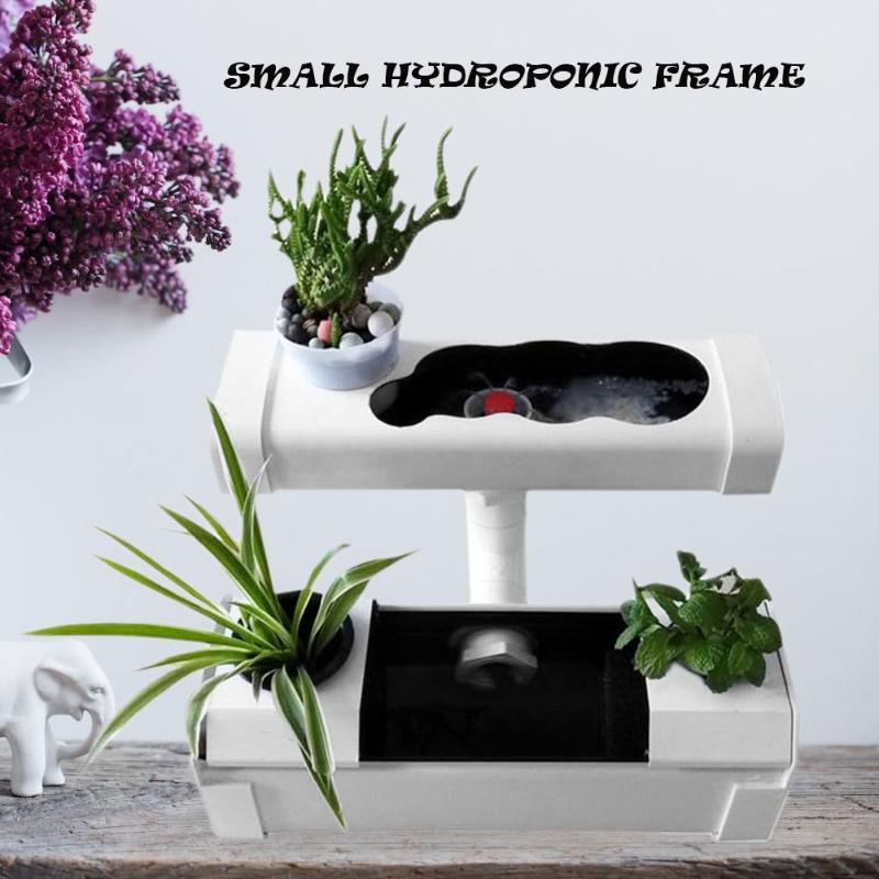 1 Set DIY 110V Plant Site Hydroponic Systems Mini Indoor Garden Nursery Pots US Plug Garden Accessories Garden Supplies