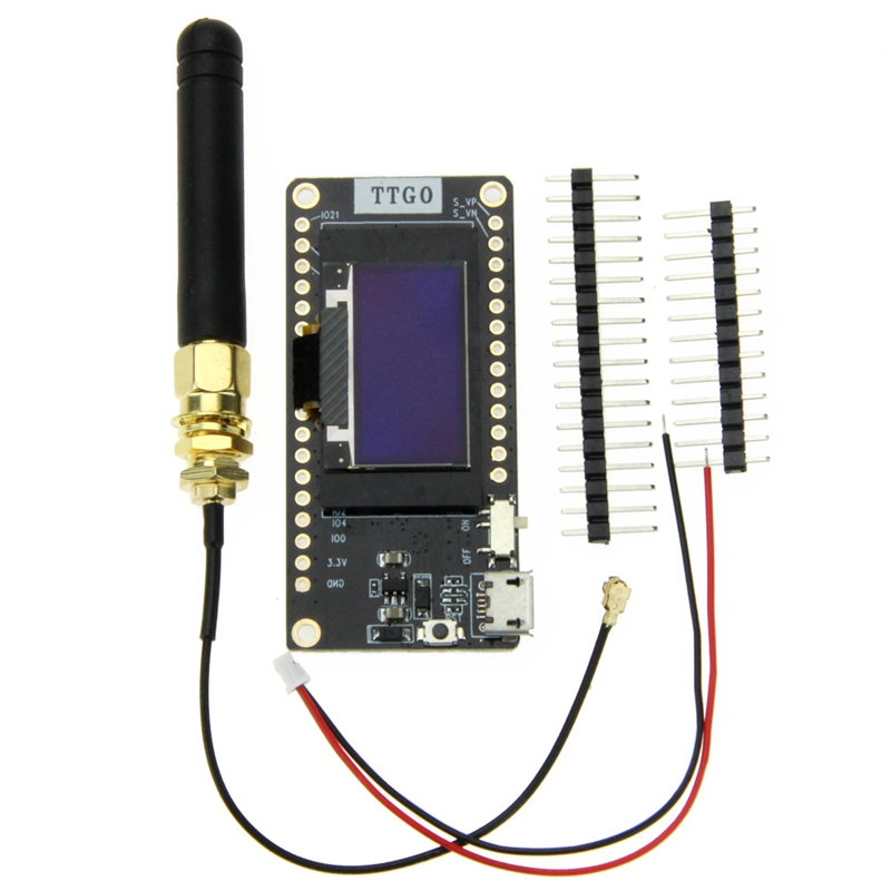 Ttgo Newest Lora32 V2.0 868Mhz Esp32 Lora Oled 0.96 Inch Sd Card Blue Display Bluetooth Wifi Esp32 Esp 32 Module With Antenna-in Circuits from Consumer Electronics