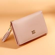 Wallet Ladies Wild Womens Tassel Fashion Card Holder Foreskin Tide Multi-Function Large Capacity Handbag