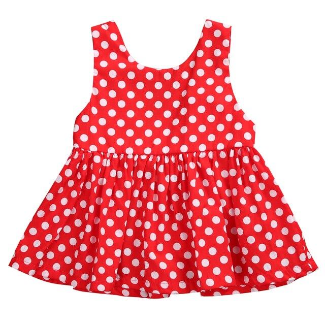 f501b5642dcd € 1.89 6% de DESCUENTO|2019 bonito recién nacido bebé niña fiesta Polka Dot  corto Mini vestido de sol en Vestidos de Mamá y bebé en ...