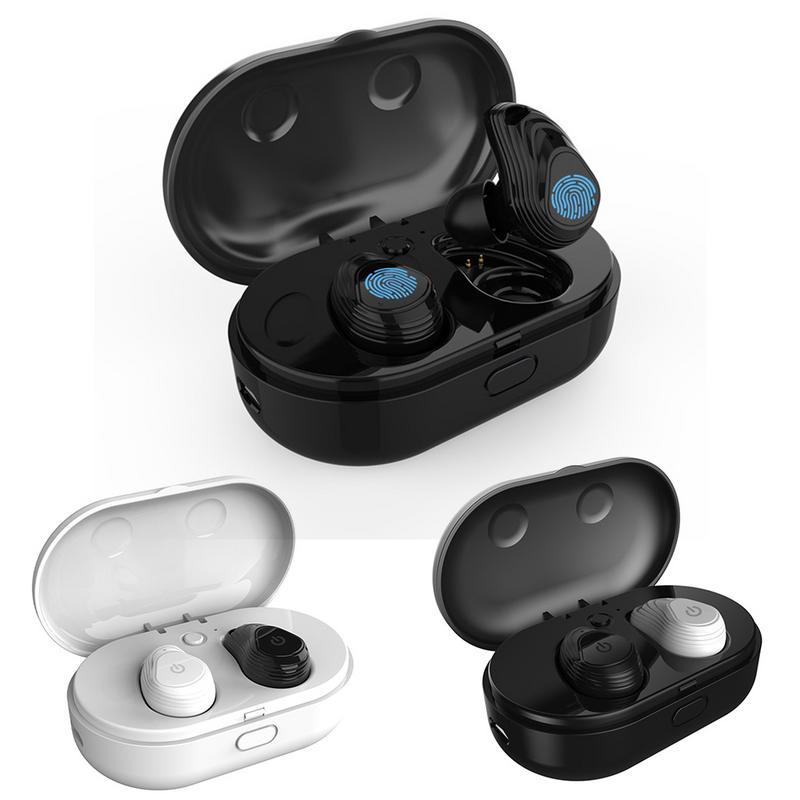 TWS Touch Control écouteurs sans fil Mini étanche Bluetooth HIFI stéréo casque Binaural avec étui de charge 800 mAh
