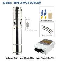 24 volt water pump solar submersible well pump 304 Stainless steel Impeller bomba de pozo solar 4SPSC5.0/28 D24/250