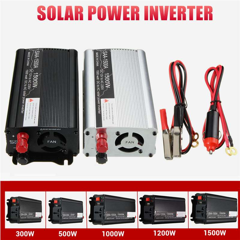 Inverter 600/1000/2000/3000W Peaks 12V 220V Modified Sine Wave Voltage Transformer Power Inverter Converter Car Charge USB
