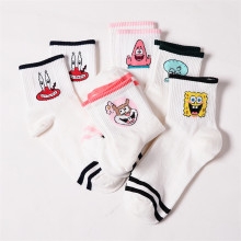 V-Hanver Fashion Cartoon Character Cute Short Socks Women Harajuku Patterend Ankle Hipster Funny Female