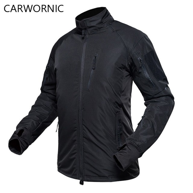 CARWORNIC Tactical Bomber Men Jacket Military Thicken Warm Army Windbreaker Fleece Camouflage Jacket Down Clothes Male Coats