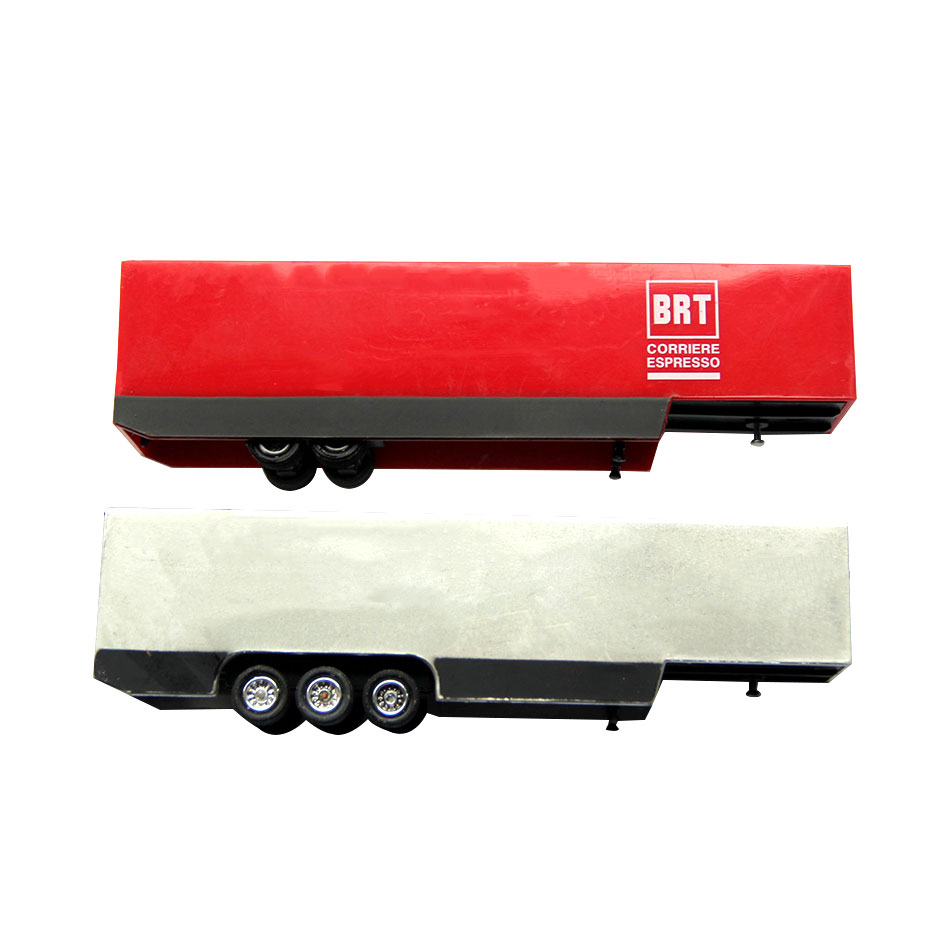 Building Train Cargo Container Toys Model 1:87 HO Scale Truck Trailer Car With Production Sand Table Mini Gift Transportation