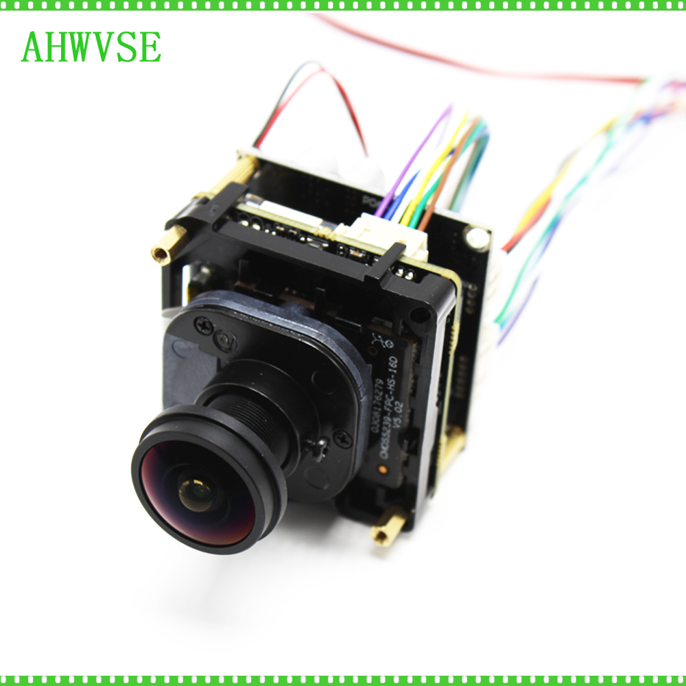 Wide Angle Fish eyey Lens 1.8mm 5MP POE IP Camera Module 1920P with RJ45 Network Port POE 48V Power Supply