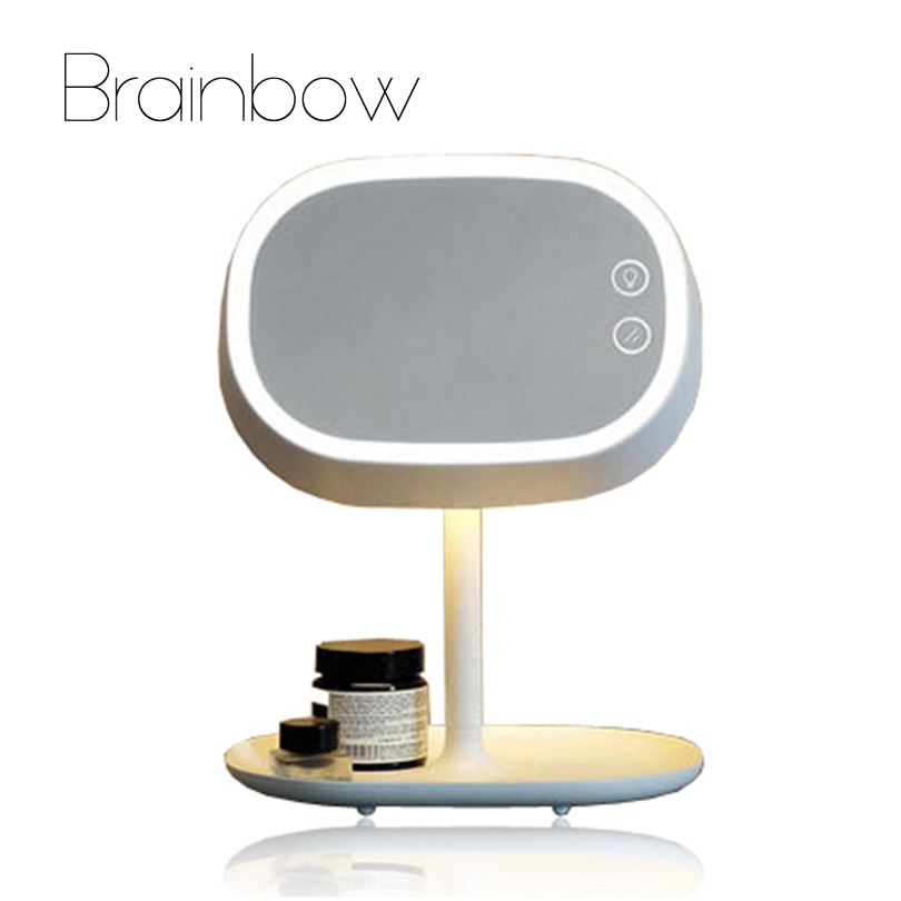 Mirrors Brainbow 1pc Makeup Mirror Led Mirror Light Rechargable Led Light Lamp Desktop Table Stand Lamp Bed Lamp Usb Charger Decor Gifts
