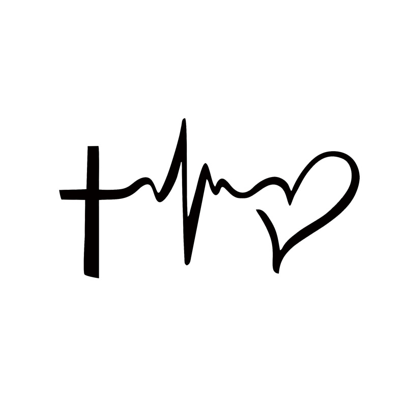 2017 Hot Sale Faith Hope Love Vinyl Decal Sticker Car Window Wall Bumper Symbol Heart Cross Stying Jdm