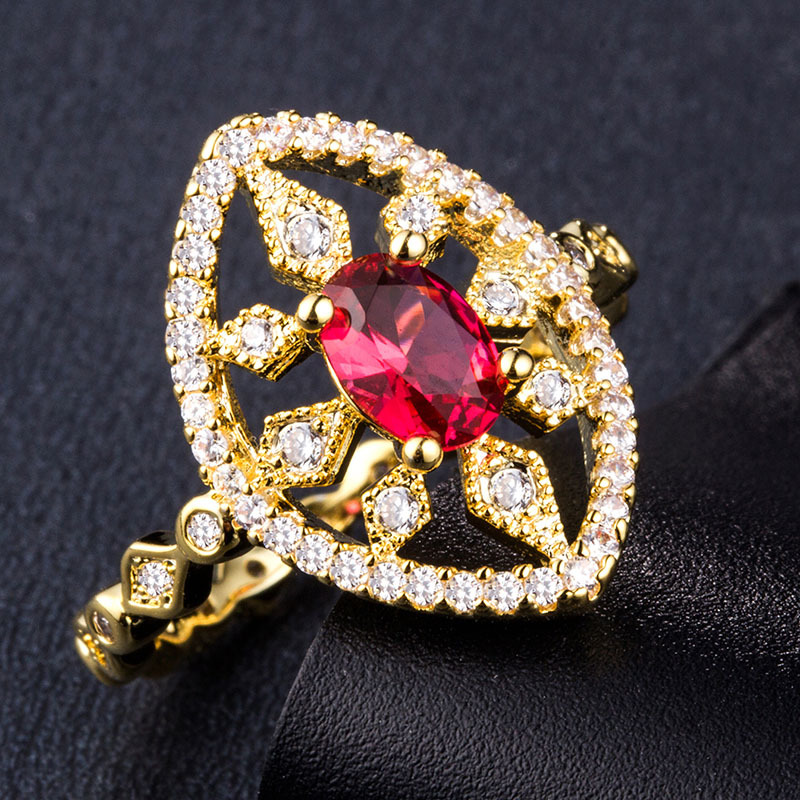 925 Silver Jewelry Diamond Ring Rose gold zircon costume jewels rings stainless steel Topaz Morgan Stone emerald B1021 in Rings from Jewelry Accessories