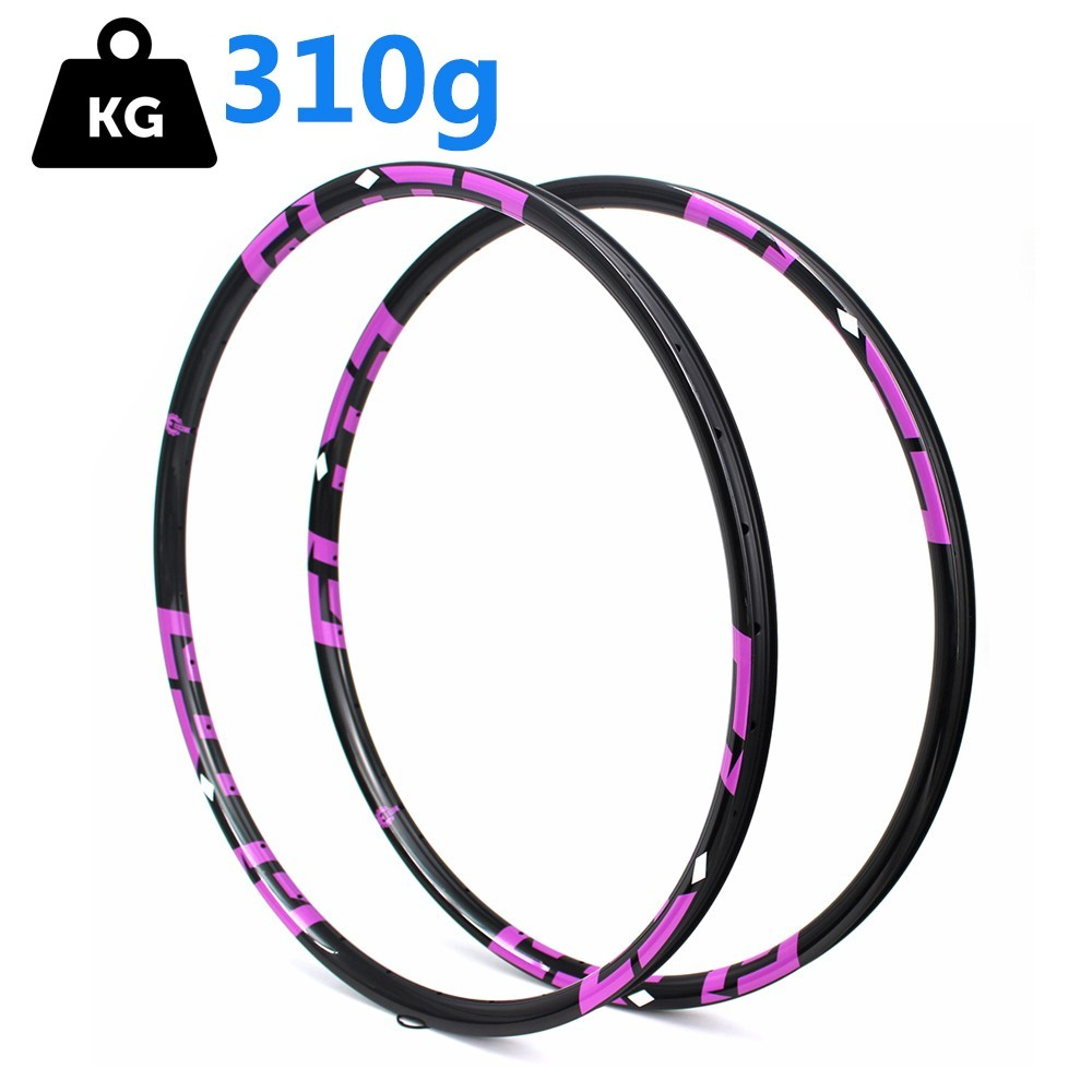 29er <font><b>700c</b></font> MTB Carbon Rim Super Light Only 310g 28*24mm 28/32H For Cross Country/All Mountain Bike <font><b>Wheel</b></font> 3/6/12k Ud Matte Glossy image