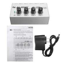 LEORY Mini 4 Channel Music Mixing Ultra compack Audio Sound Mixer DJ Console DJ Mezclador For Audio PC Karaoke Professional