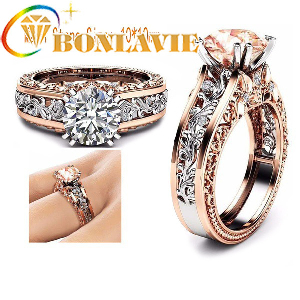 Wish Ma'am Ring Alloy Plating Rose Gold Color Separation Ring Ornaments