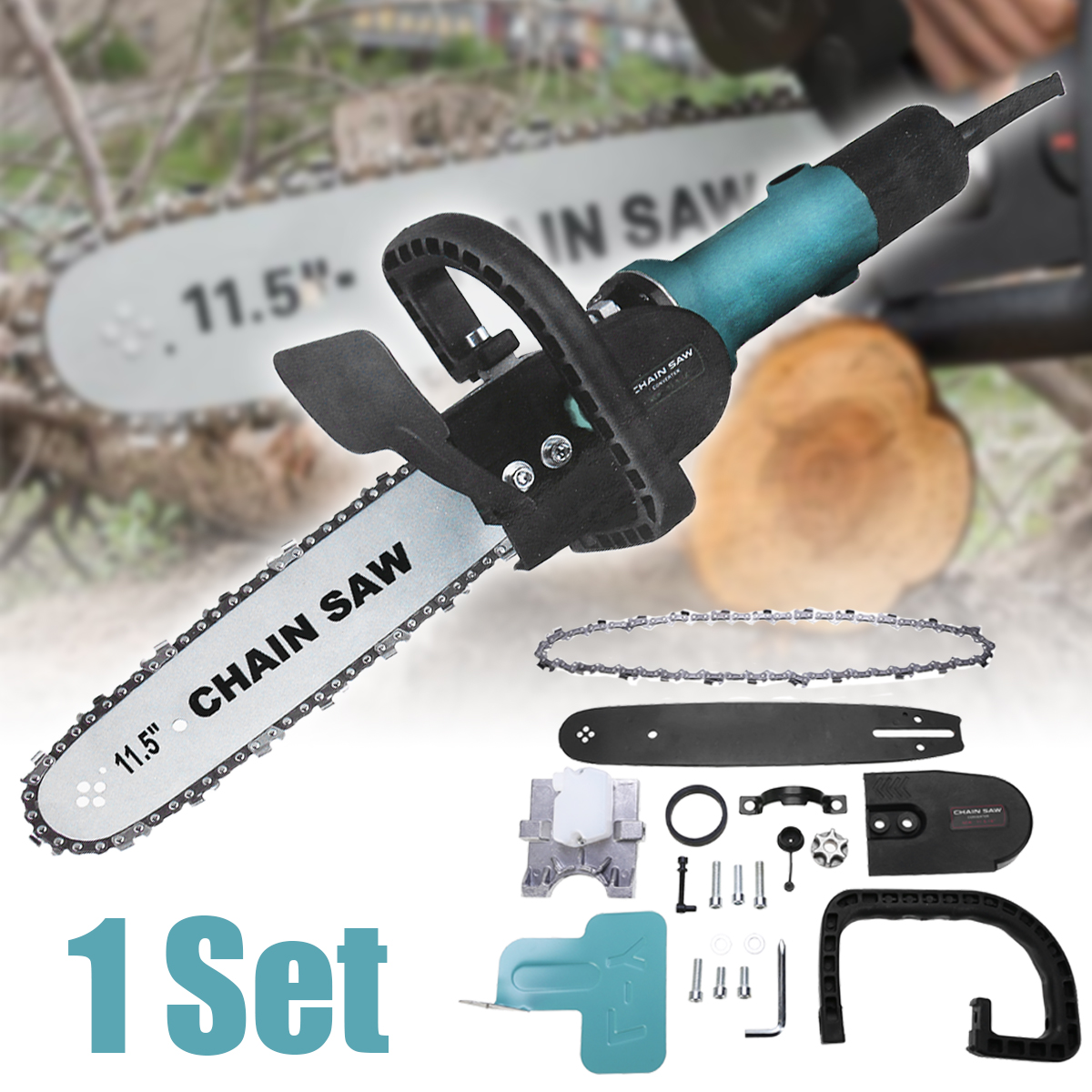 Multifunction Portable Logging Chain Saw Adjustable Hand-held Chainsaw Electric Angle Grinder For Garden Woodworking Power ToolsMultifunction Portable Logging Chain Saw Adjustable Hand-held Chainsaw Electric Angle Grinder For Garden Woodworking Power Tools