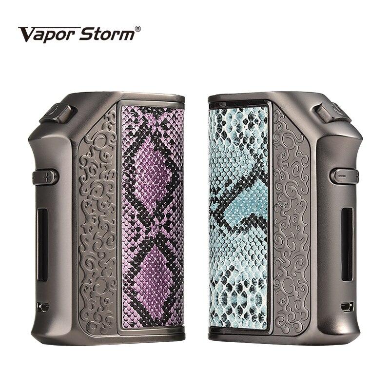 Vapeur tempête 200 W Vape Mods Storm200 TC Mode courbe sans double 18650 batterie boîte Mod Cigarette électronique pour RDA RDTA atomiseur