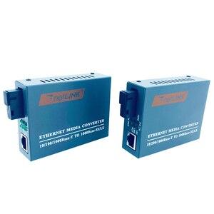 Image 4 - HTB GS 03 أ & B 3 أزواج ألياف جيجابت محول وسائط بصرية 1000Mbps وضع واحد واحد الألياف SC ميناء امدادات الطاقة الخارجية