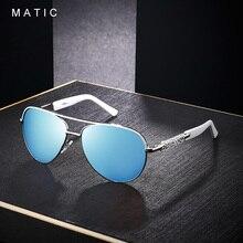 نظارة شمسية كلاسيكية جديدة للقيادة من MATIC بعدسات عاكسة للنساء 2019 نظارات شمسية كلاسيكية للنساء عدسات زرقاء بإطار أبيض للإناث