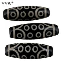 Natural Tibetan black stone Dzi Beads twenty-one eyed Approx 2.5mm Sold By 5pcs/Lot