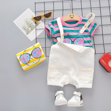 Summer Baby Girl Clothing Toddler Garment Infant Fashion Clothes Suits T Shirt Bib Shorts 2pcs/sets Kid Children Casual Costume