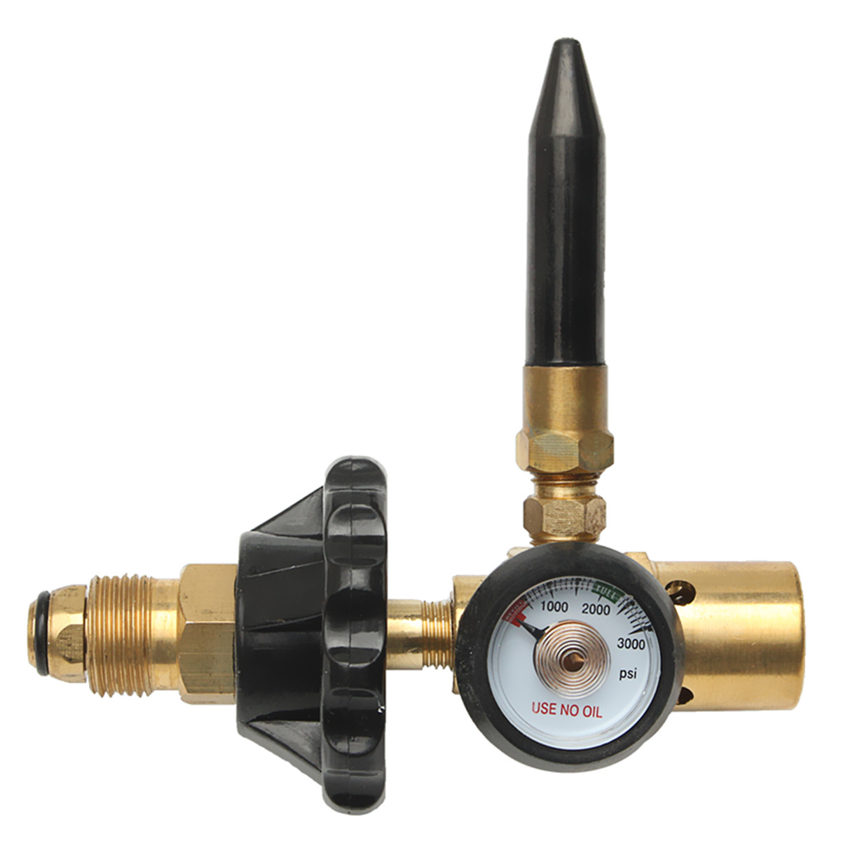 Durable Brass Helium Latex Balloon Inflator Regulator With Pressure Gauge For CGA 580 Valves Mayitr 145*135mm