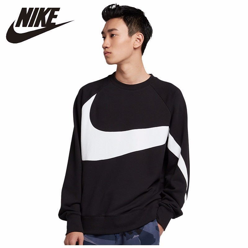 Nike Sport Sweater Jacket Round-Neck French Terry Man Breathable -Ar3089-012 New-Arrival