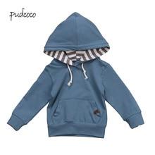 Pudcoco/Новинка года, брендовая Осенняя теплая Повседневная Верхняя одежда с капюшоном для маленьких мальчиков, пальто