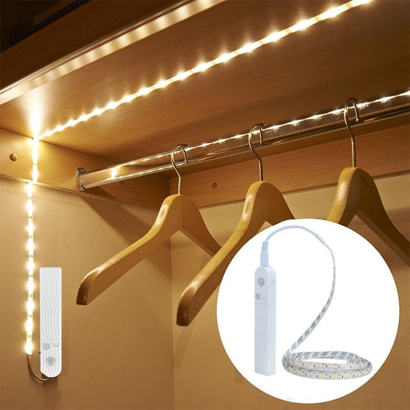 EeeToo ПИР Беспроводной ночник с светильник с датчиком движения водостойкий настенный светильник шкаф лестницы свет индукции светодиодный дл...