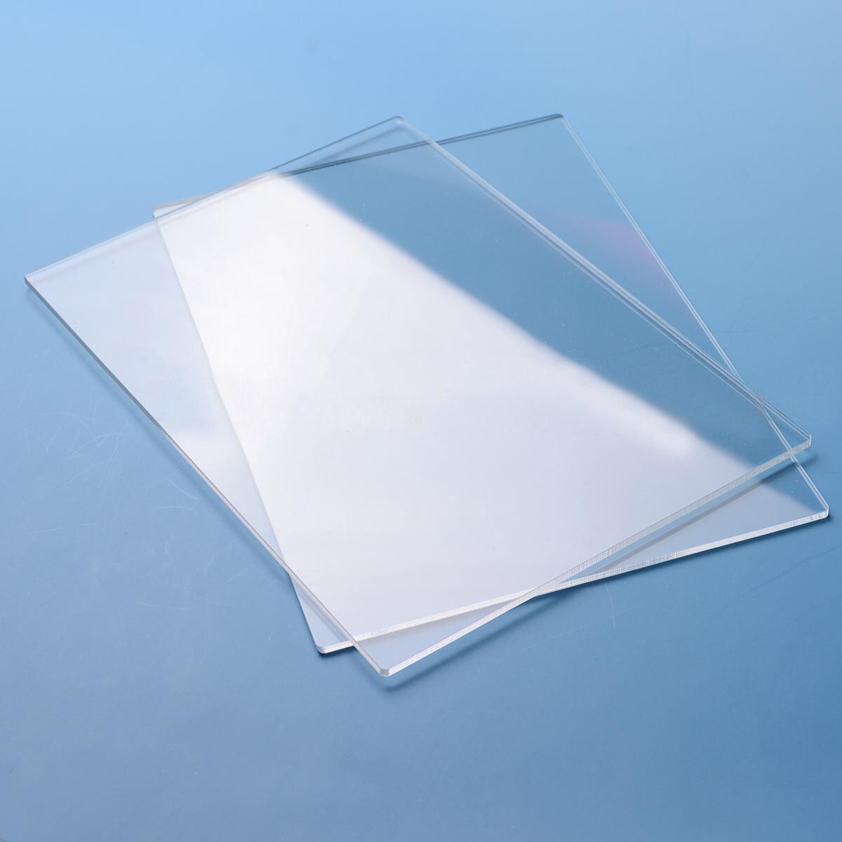 2pcs 155mm*225mm*3mm Generic Acrylic Transparent Cutting Plates For Big Shot New2pcs 155mm*225mm*3mm Generic Acrylic Transparent Cutting Plates For Big Shot New