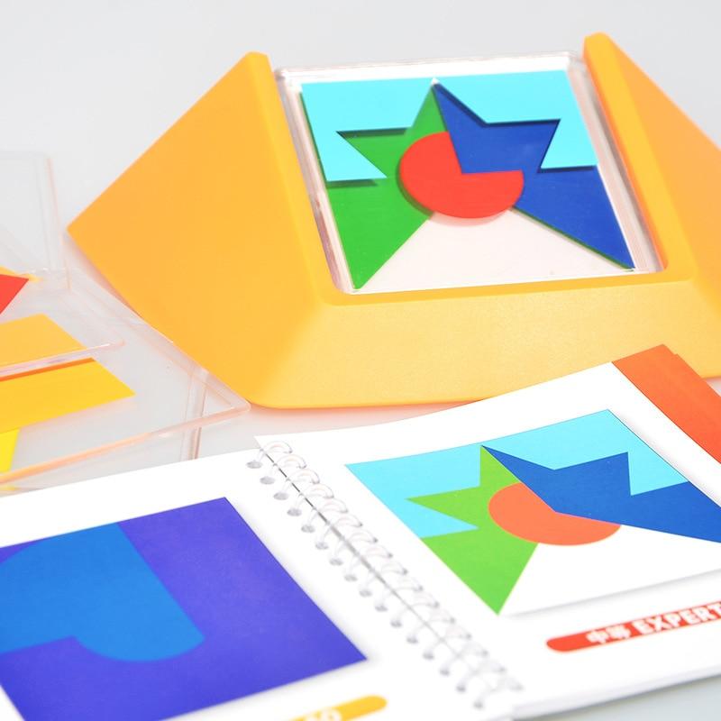 100 défi Code couleur Puzzle jeux Tangram Puzzle conseil jouet enfants développer logique raisonnement Spatial compétences Toy50 - 3