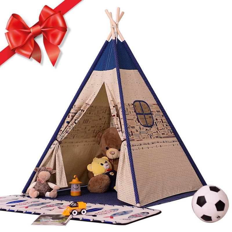 Enfant tente maison Style indien bébé jouer maison intérieur escalade bébé jouet princesse château présent accrocher drapeau enfants tente jouer