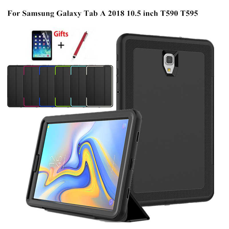 7f9a69f80f3 Detail Feedback Questions about Case For Samsung Galaxy Tab A A2 2018 10.5  inch T590 T595 T597 SM T590 Smart Cover Funda Tablet Hard Skin Stand Shell  ...