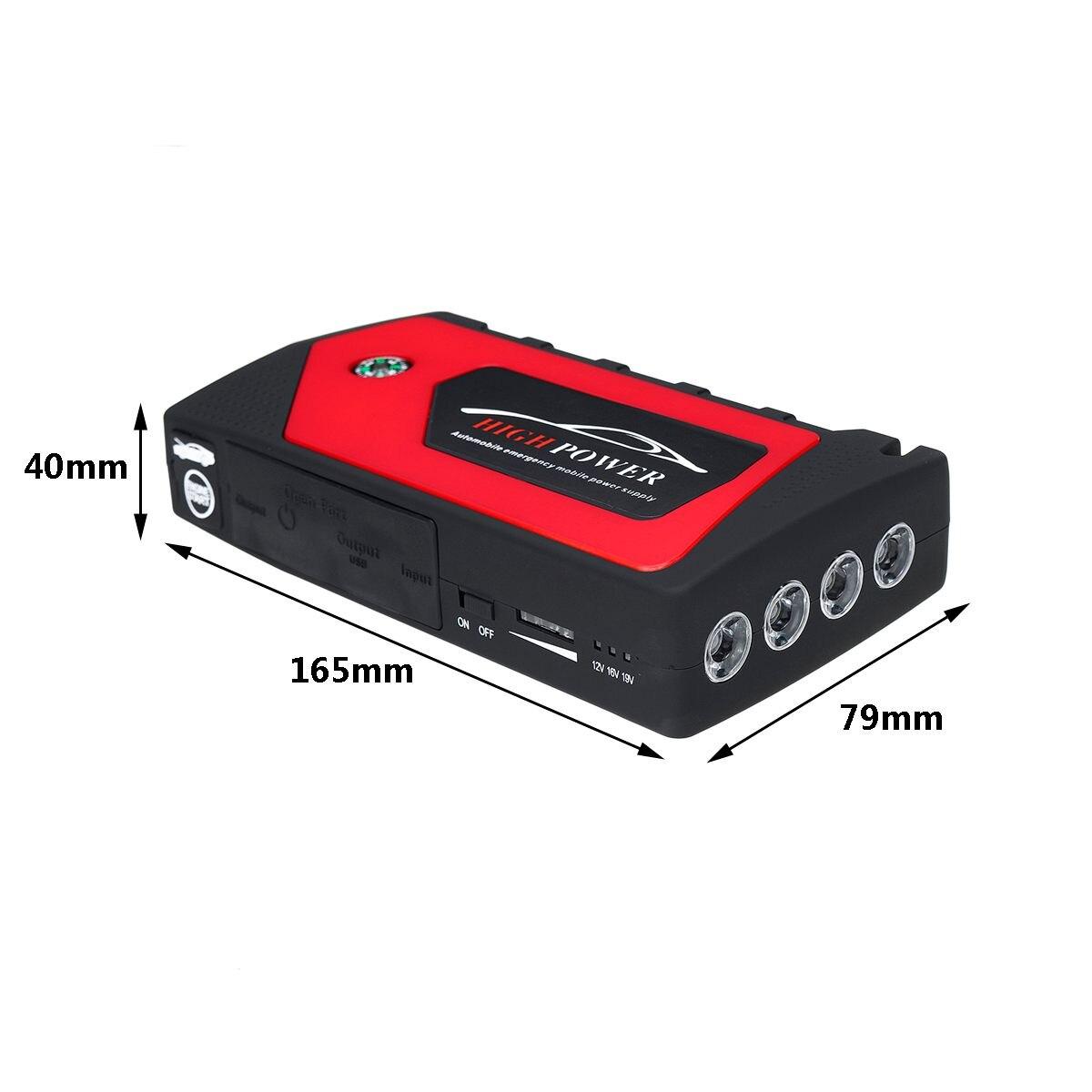 82800 mAh 4 USB voiture saut démarreur Pack chargeur Portable Booster batterie externe Battery82800mAh 4 USB voiture J - 6