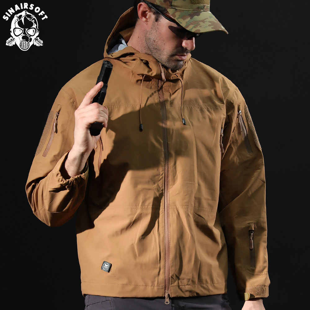 Nova roupa de caça jaqueta dos homens casaco roupas militares tático outwear exército dos eua respirável náilon multicam luz blusão