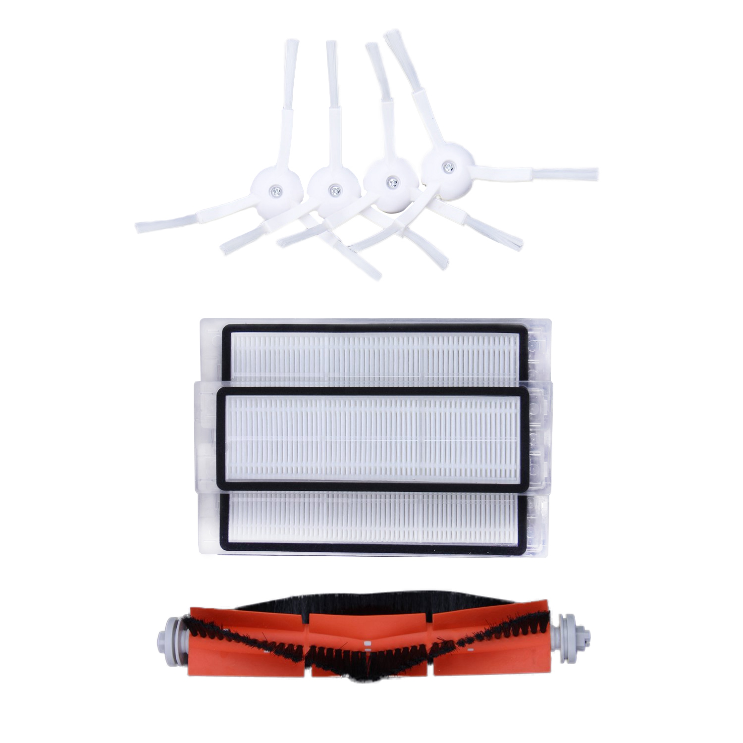 WHYY-1set 3PCS hepa filter+4PCS side brush+1PCS main brush Suitable for Xiaomi Mi Robot Vacuum Cleaner parts accessoriesWHYY-1set 3PCS hepa filter+4PCS side brush+1PCS main brush Suitable for Xiaomi Mi Robot Vacuum Cleaner parts accessories