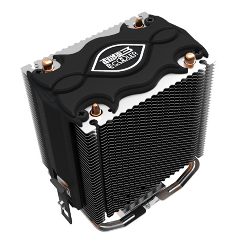 PCCOOLER cooler heatpipes 2 80mm LGA775 blu-ray LED fan para intel 1150 1151 1155 1156 para AMD754 AM2 AM2 + AM3 CPU radiador