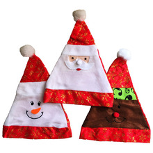 10 Pcs/Lot Red Santa Claus Snowman Elk Christmas Hats for Adult Children Xmas Merry Chiristmas Party Supplies Decorations