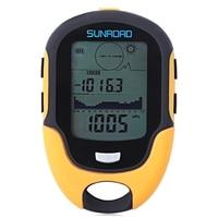 SUNROAD Outdoor Multifunctional Waterproof LCD Digital Compass Altimeter Barometer