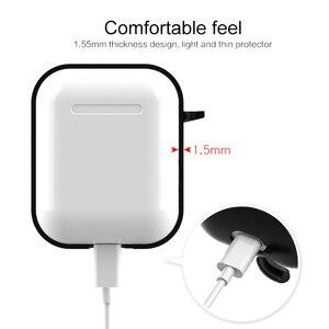 Image 4 - Силиконовый мягкий чехол для Airpods, противоударный защитный чехол для наушников Air Pods, водонепроницаемый чехол для iphone 7 8, аксессуары для гарнитуры