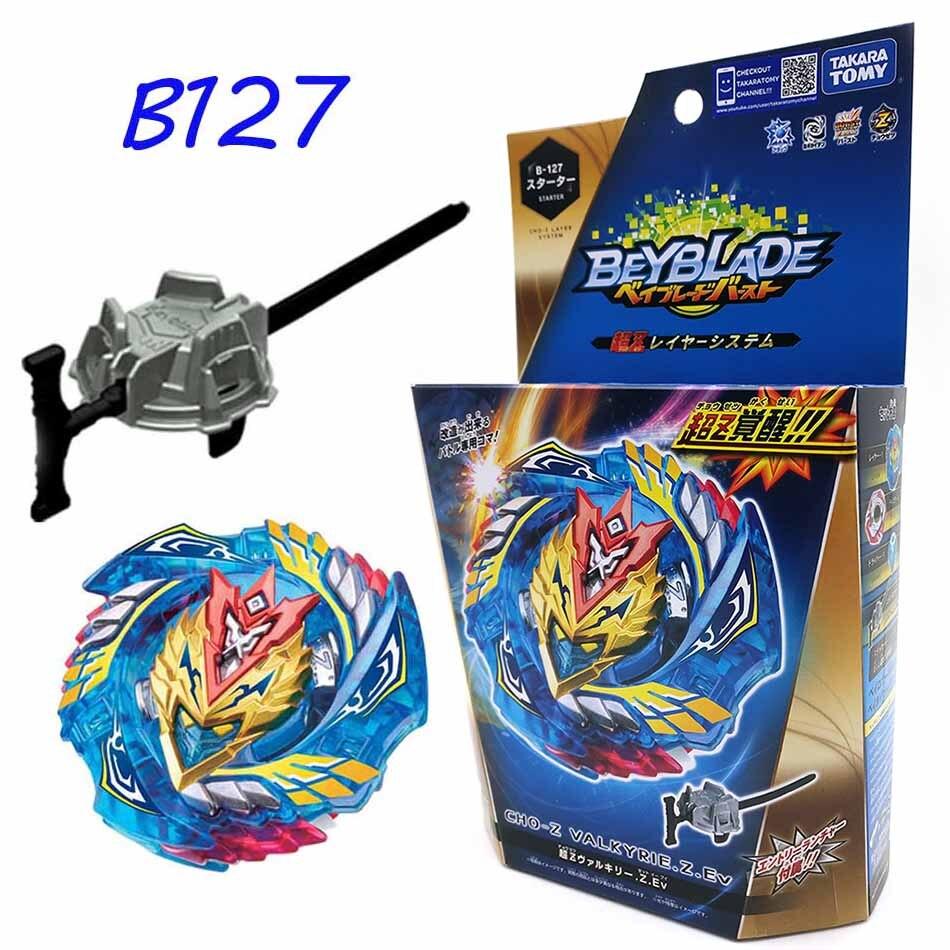 Original TOMY Beyblade explosión fafnir B127 B122 CHO-Z Valquiria Z ev con lanzador de Bayblade ser hoja superior spinner juguete para los niños