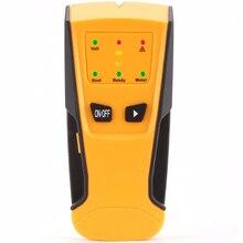3 в 1 металлоискатель AC Live детектор проволоки металлоискатель детектор светодиодный световой сигнал индикация автоматическая калибровка