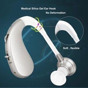 Image 5 - נייד מיני דיגיטלי נטענת שמיעה אוזן איידס לקשישים אלחוטי קול מגברים ארוך זמן שימוש זרוק חינם
