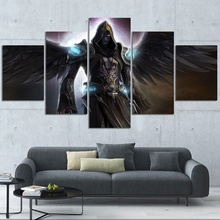 5 Piece Video Game Poster Printed Fallen Angel Pictures Canvas Wall Painting for Bedroom Decor