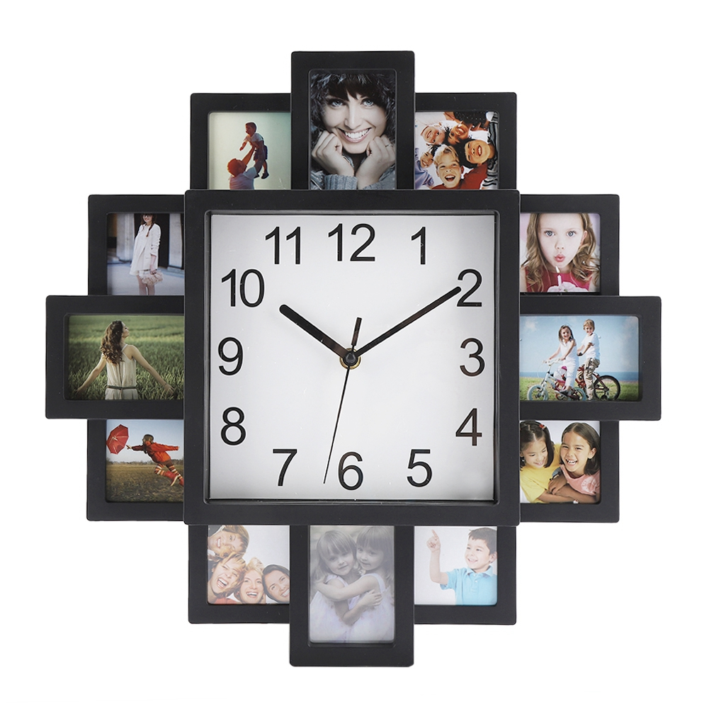 Photo Frame Wall Clock  2019 New DIY Modern Desigh Art  Picture Clock  Living Room  Home Decor Horloge(China)